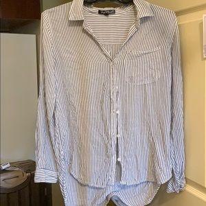 Seersucker button up blouse